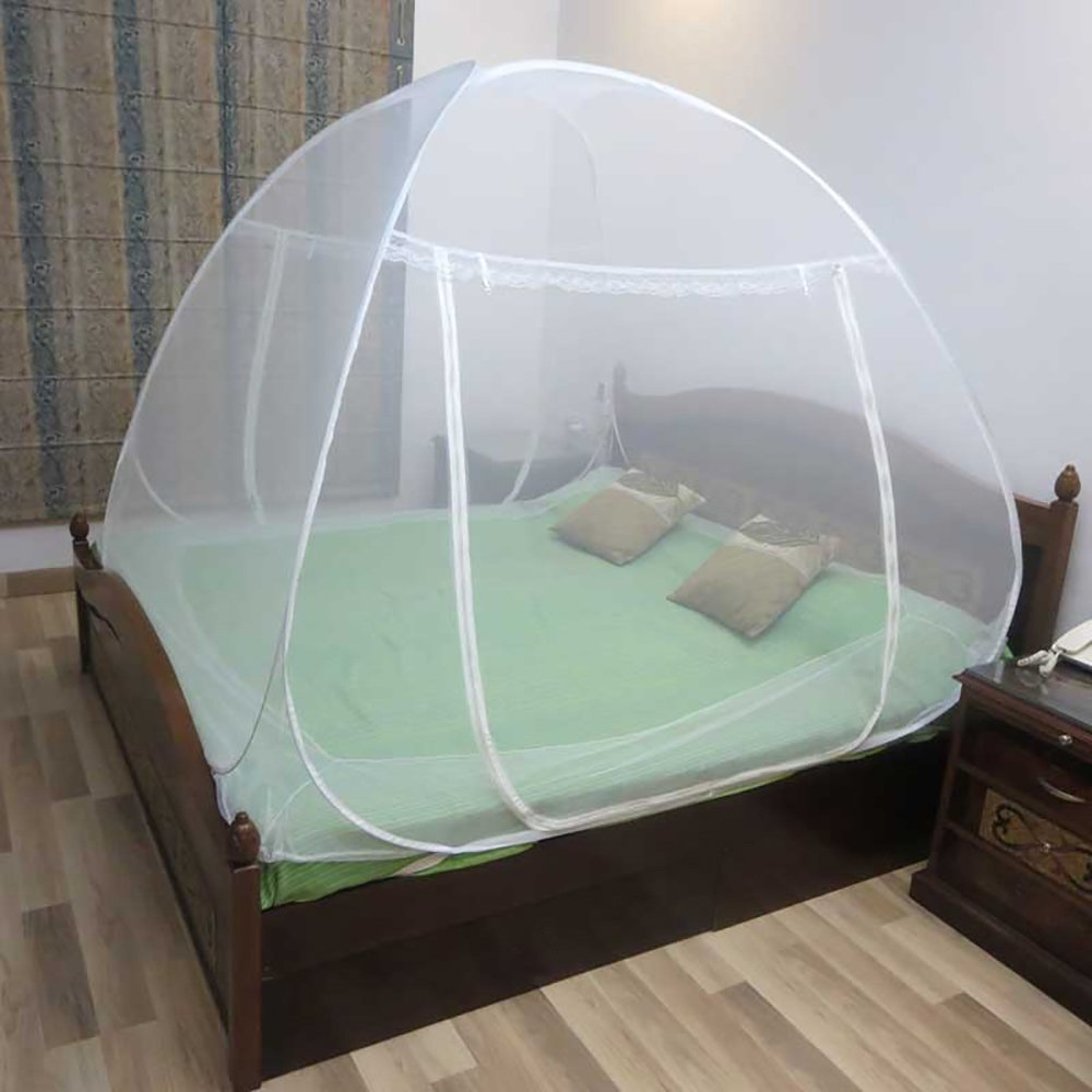 Healthgenie Foldable Mosquito Net for Double Bed (King Size) - White