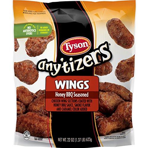 Tyson Any'tizers Honey BBQ Bone-In Chicken Wings, 22 oz. (Frozen)