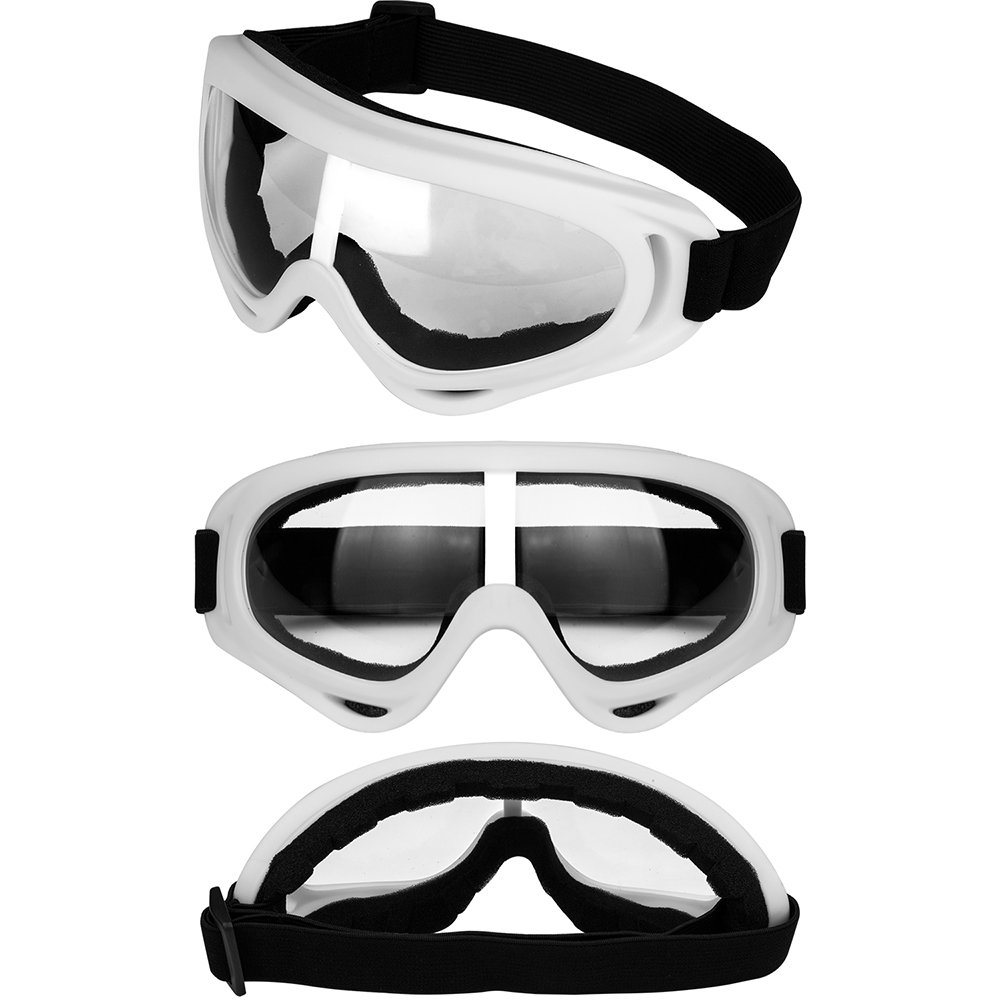 LJDJ Motorcycle Goggles - Glasses Set of 2 - Dirt Bike ATV Motocross Anti-UV Adjustable Riding Offroad Protective Combat Tactical Military Goggles for Men Women Kids Youth Adult by LJDJ (Image #3)