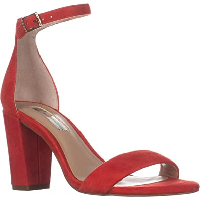 269b125cb INC International Concepts Womens Kivahred Open Toe Ankle Strap, Red, Size  7.5 C