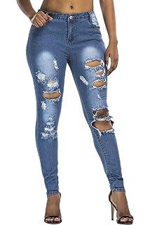 Yacun Pantalons Cheville Broderie Fleur Femme Droite Jeans Haleter ... b707e69f6997