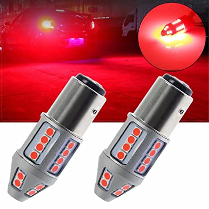 2X 7443 LED Flashing Strobe Rear Blinking Alert Safety Brake Tail Stop Light Red