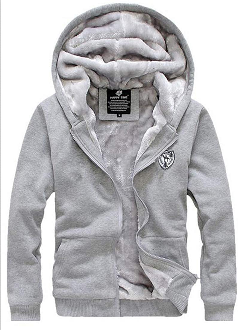 C/&H Mens Hoodie Casual Sweatsuit Sweatshirt Two Pieces Tracksuit Set