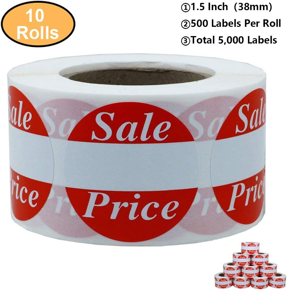 25 Red Stars Stickers Self Adhesive Vinyl Labels size 38mm each