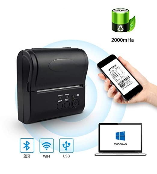 Dhshoping WiFi Impresora térmica de Recibos POS Printer80MM con ...