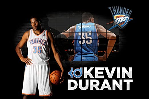 Kevin Durant OKC Thunder limitada de baloncesto diseño de 24 x 36 ...