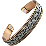 New Ladies Copper Rhodium Magnetic Bangle Bracelet Uk