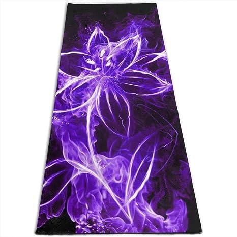 Amazon.com : EJudge Yoga Mat Beautiful Purple Butterfly ...