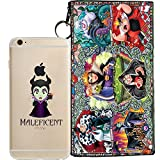 8 inch jelly - Disney Villains Evil Witch, Ursula, Maleficent Jelly Clear Case for Apple iPhone 8 (includes 8