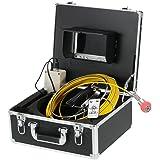 Docooler Sistema Video Ispezione Tubature Impermeabile da 7 Pollici a Cristalli Liquidi 960TVL CCD con Cavo 20m