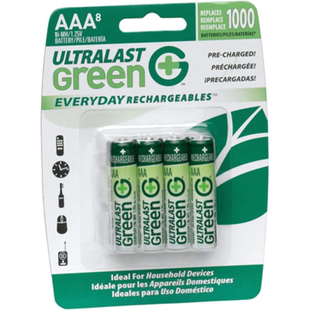 Battery; Rechargeable; AAA; Nickel-Metal Hydride; 1.2VDC; 750mAh; Photo, Pack of 2