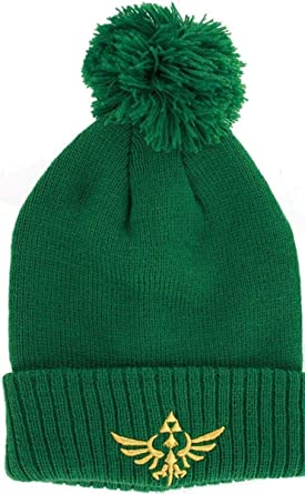 Image Unavailable. Image not available for. Color  Legend of Zelda Green  Beanie with Pom ... 6ee73cf0277