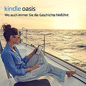 Kindle Oasis eReader, wasserfest, hochauflösendes 7Zoll (17cm) großes 300-ppi-Display, mit Umblättertasten, 32GB, gratis 3G + WLAN