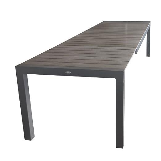 wohaga® Extensible mesa mesa de jardín, 205/275 x 100 cm, marco de ...