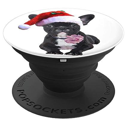 3e7807f6d19 Amazon.com  French Bulldog Christmas Santa Hat for Frenchie Lovers ...