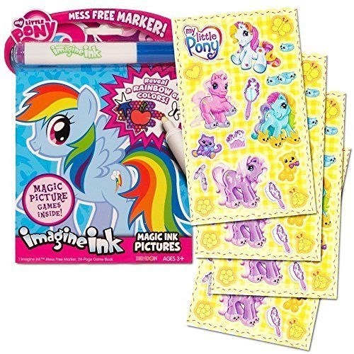 My Little Pony Imagine Ink Book Set (Includes Mess Free Marker and Stickers) -