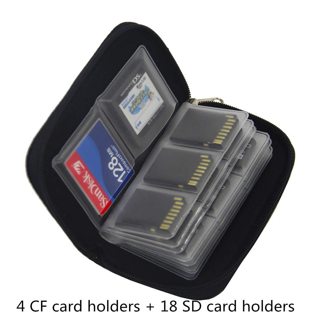 Myymee 4 Tarjetero CF y 18 Tarjetero SD, Funda de almacenaje ...