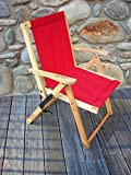 Blue Ridge Home Fashion Highlands Folding Deck Chair in Red For Sale
