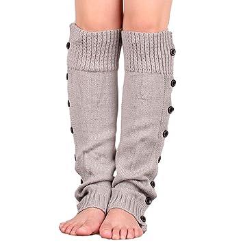 352880aba Dexinghaoye Mujeres niñas Invierno Crochet de Punto Calentadores de ...