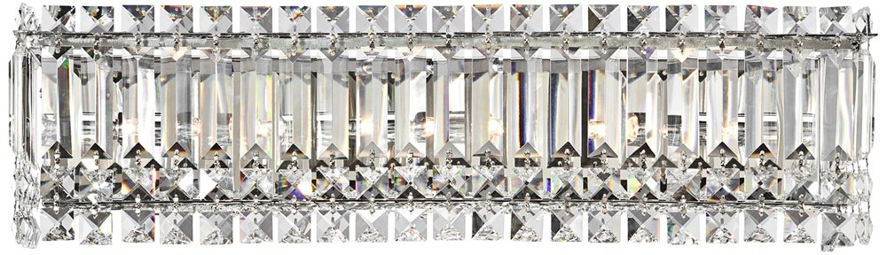 Columns Crystal Chrome Halogen 23-Inch-W Bathroom Wall Light