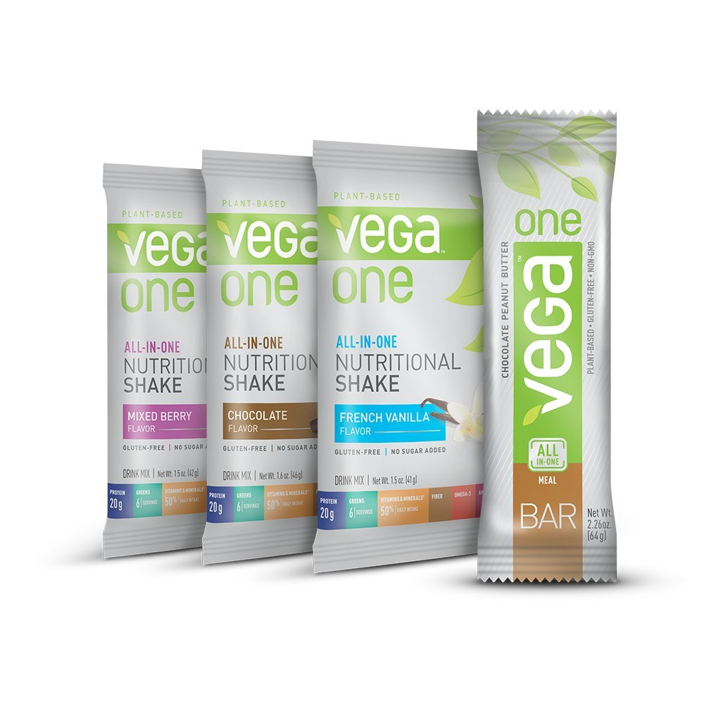 Vega One All-In-One Protein Powder & Vega One Bar Variety Pack, 4 Count