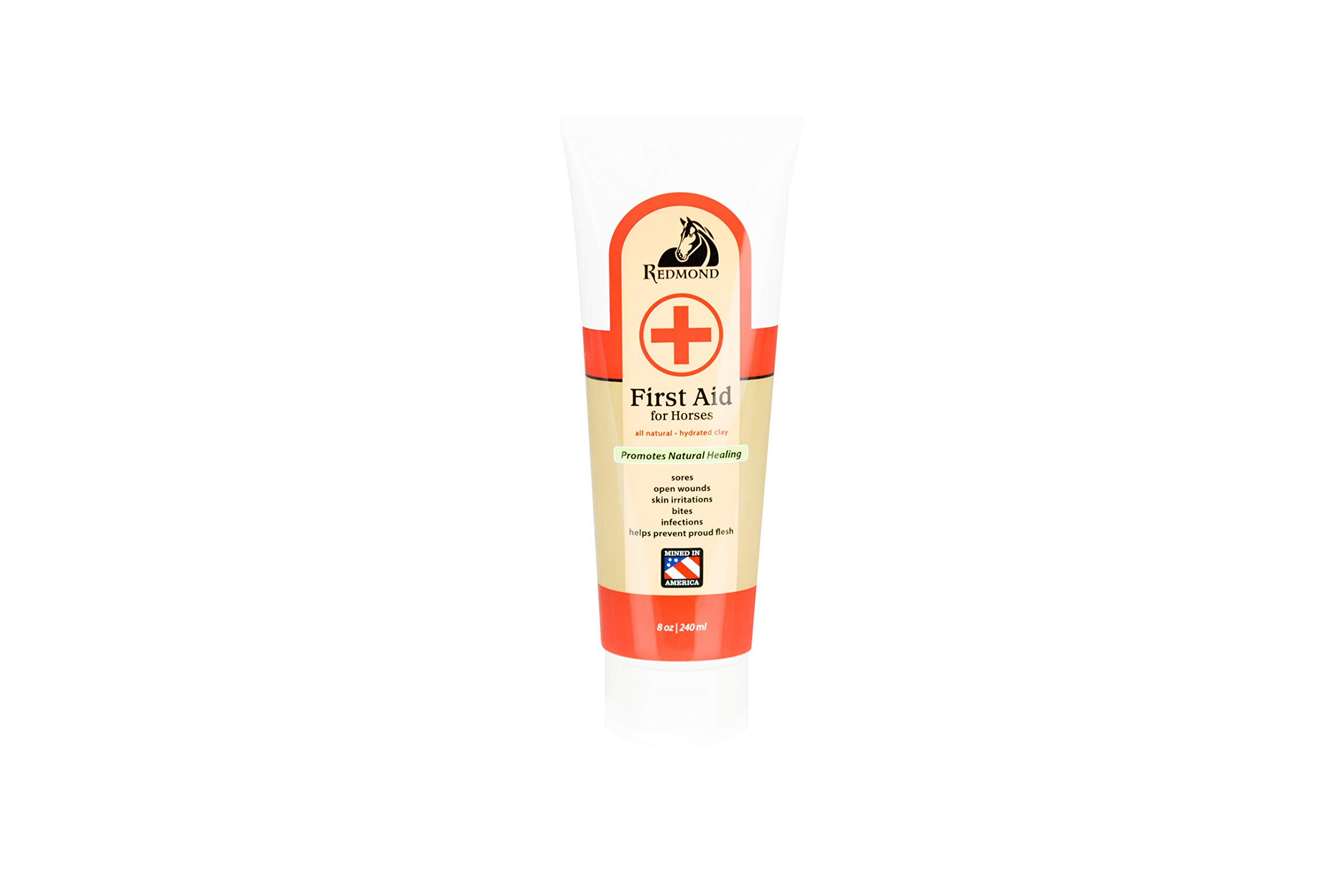 REDMOND First Aid All Natural Hydrated Clay for Horses, 8 Ounce Tube