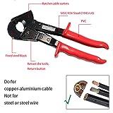 Knoweasy Cable Cutter,Heavy Duty Aluminum Copper