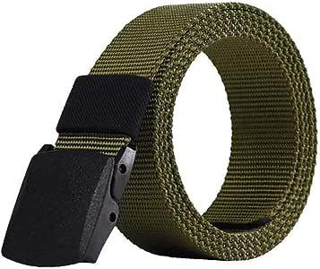 Cintur/ón Nylon Hombre Militar Correa T/áctico Policia Agustable Aire Libre de Deportes de 130CM Largo Negro