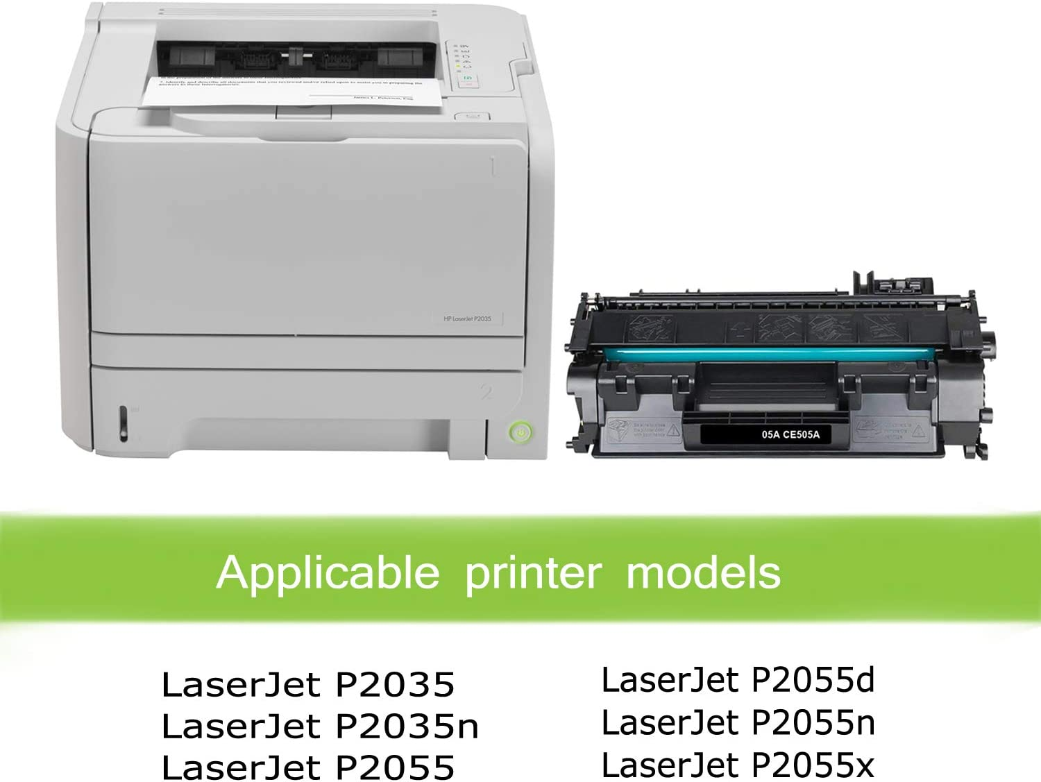 P2055d P2055n Black, 3-Pack P2035n Awesometoner Compatible Toner Cartridge Replacement for HP CE505A MICR use with Laserjet P2035 P2055x P2055