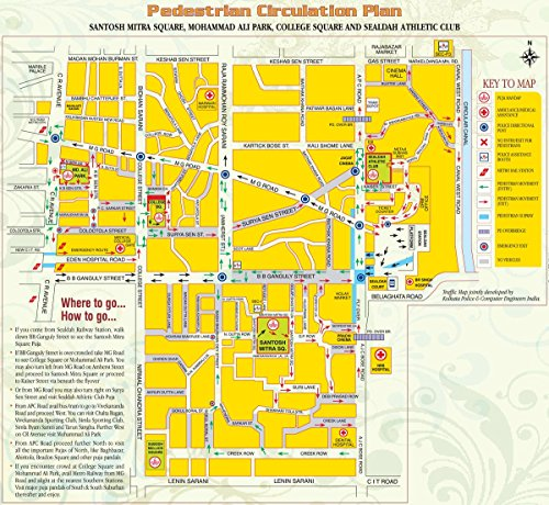 Gifts Delight Laminated 26x24 Poster: Road Map - Durga Puja in Kolkata - India Travel Guide