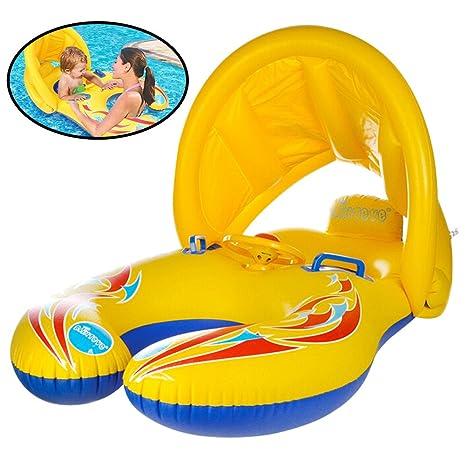 STWIE Flotador de piscina con dosel, hinchable, para bebés ...
