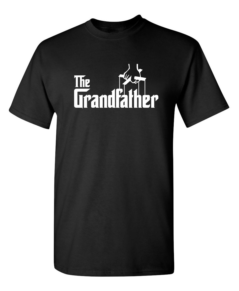 Feelin Good Tees The Grandfather Gift for Dad Father's Day Mens Funny T Shirt L Black