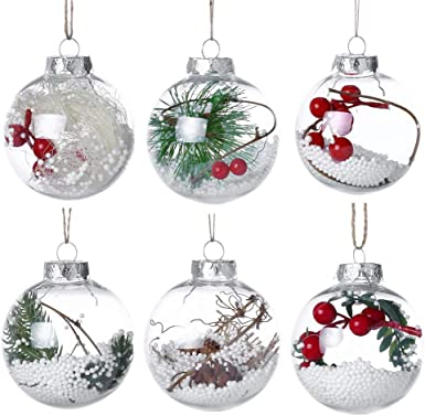 Christmas vintage mercury glass baubles set of 6 small decorations jewel colours