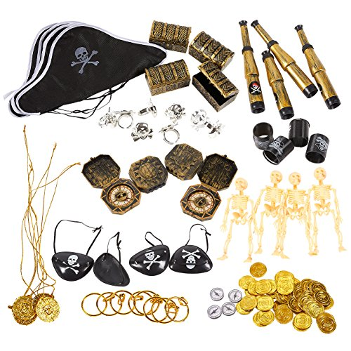 100-Pack Pirate Party Favors - Pirate Theme Birthday Party Supplies, Favor Bag Pirate Decorations, Pirate Stuff (Panda Themed Party)