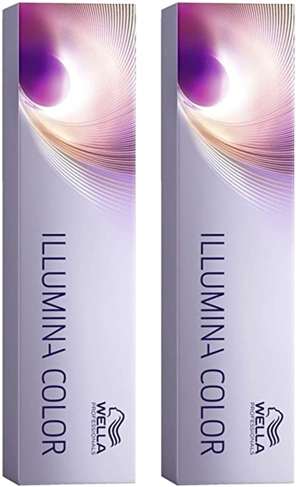 Wella Illumina - Tinte de coloración, 60 ml, 8/69, rubio claro/púrpura-ceniza, 2 unidades
