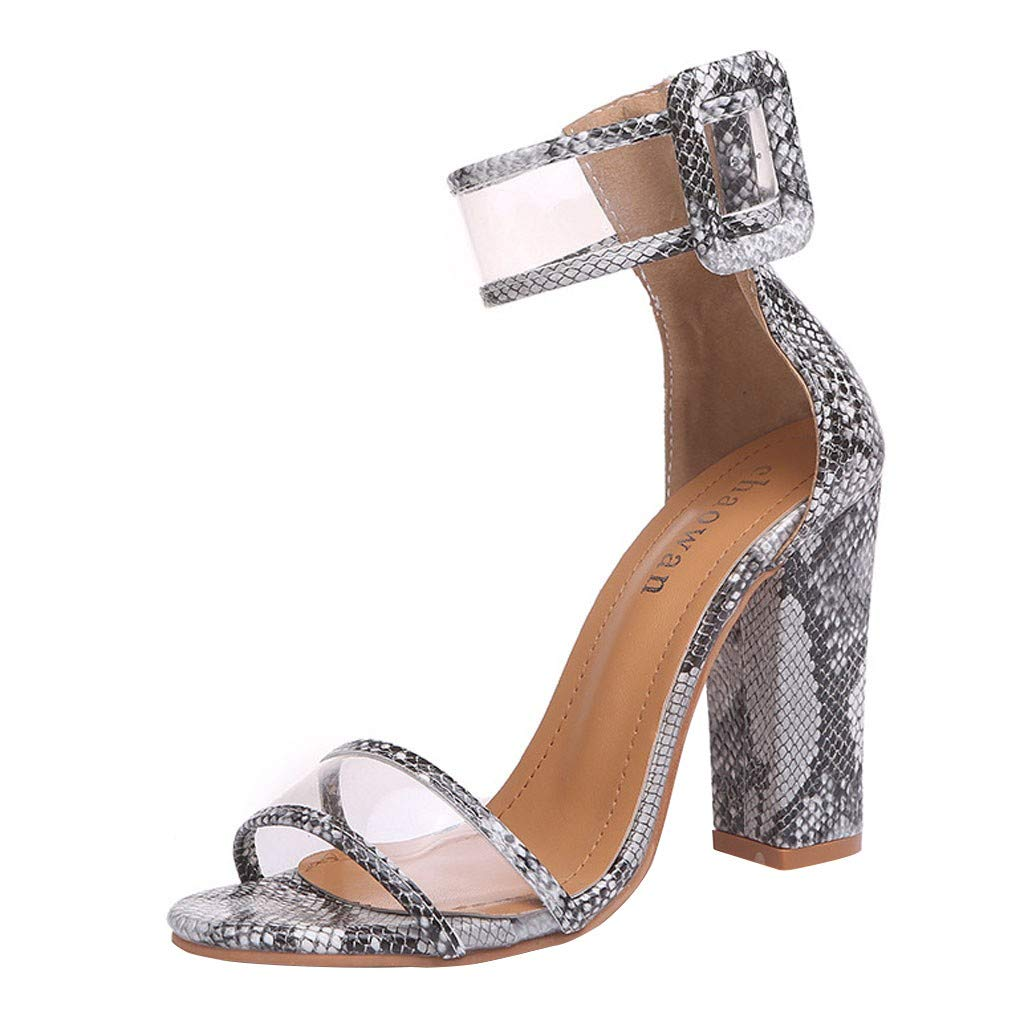 Claystyle Women's Stilett Low-Heels Slippers,Fashion Summer Party Sandals Pointed Casual Shoes(Silver,US=8.5)