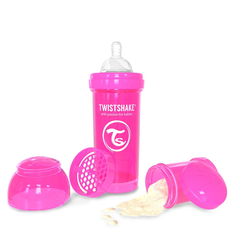 Twistshake Anti-Colic Baby Bottle 260ml/8oz Pink Feeding Bottle