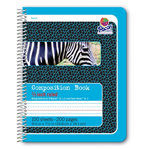 Pacon Primary Composition Spiral Book 1/2-in. Ruled, 100 Sheets, Blue (2429) ()