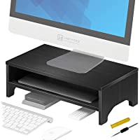 HEYMIX Monitor Riser Stand and Desk Storage Organizer for Home and Office Computer Desk Laptop Printer,42.5X24.5X15CM…
