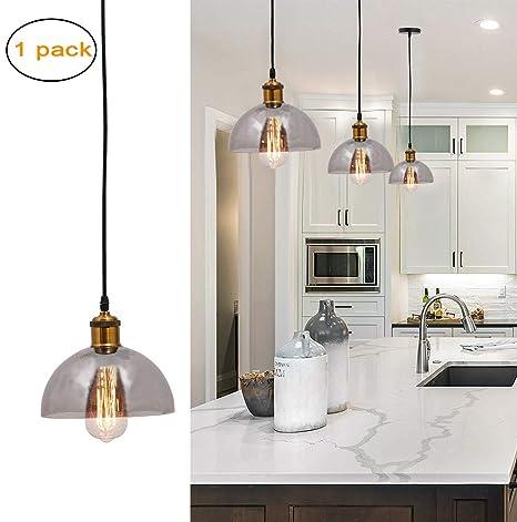 Ganeed One Light Pendant Light Fixture Brushed Nickel