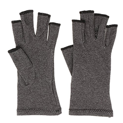 B Blesiya Arthritis Hand Compression Gloves – Fingerless Design, Breathable, Alleviate Pains, Ease Muscle Tension, Relieve Carpal Tunnel ()