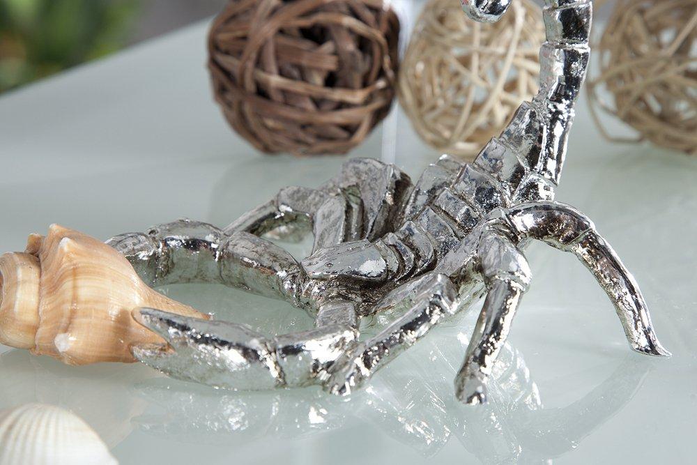 Design Skulptur SCORPION 15cm Antik Silber Figur Deko Accessoire Statue Amazonde Kche Haushalt