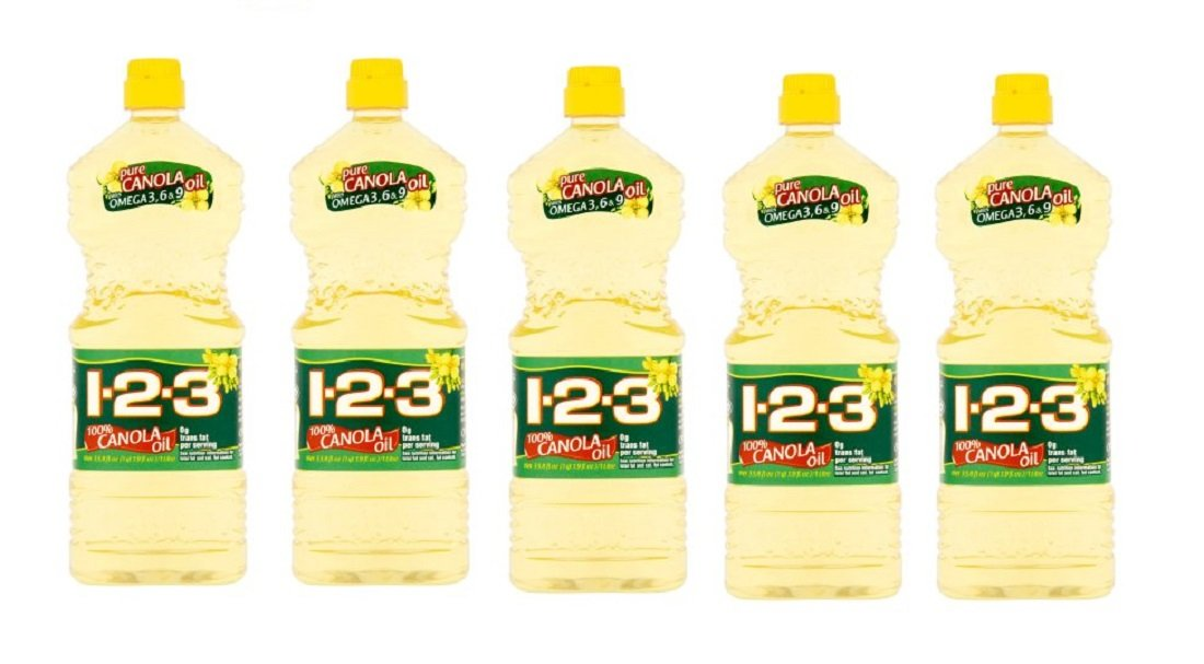 1-2-3 100% Canola Oil, 33.8 fl oz (Pack of 5)