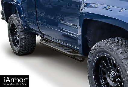Chevy Silverado Side Steps >> Aps Iarmor Aluminum Side Steps Armor Custom Fit 2007 2018 Chevy Silverado Gmc Sierra Regular Cab 2019 2500 Hd 3500 Hd Exclude 07 Classic Include