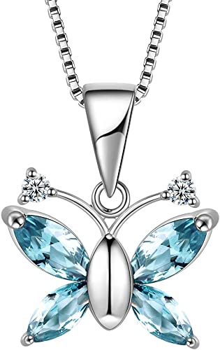 925 Sterling Silver A blue Crystal Star Necklace With Ring Studs For Women Gifts