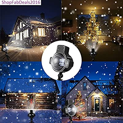 Christmas Light Laser Projector Snowflake Holiday Show LED Light Motion Remote