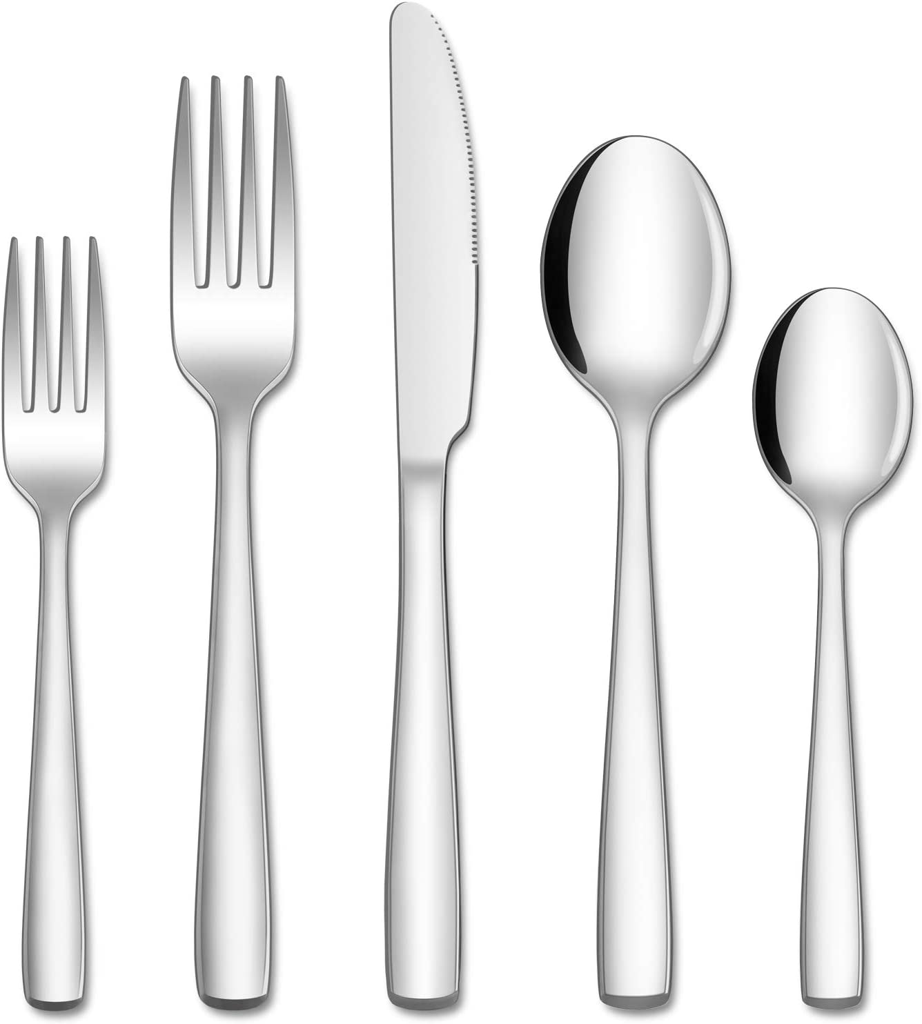 Hiware 40-Piece Silverware Set for 8, Stainless Steel Flatware Cutlery Set For Home Kitchen Restaurant Hotel, Mirror Polished, Dishwasher Safe