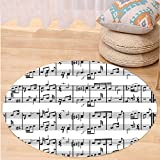 Best Tea Time Mouse Traps - VROSELV Custom carpetMusic Decor Musical Notes on the Review