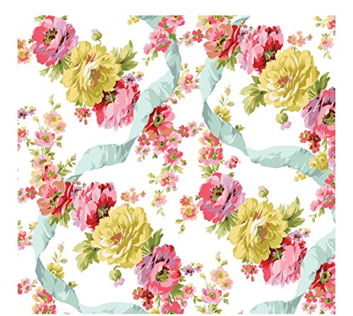 Anna Griffin Continuous Printed Gift Wrap Paper Roll - Ribbon Rose (TWP651) (Paper 12' Printed)