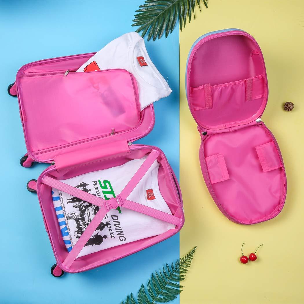 2PC Upgrade Kids Luggage Set for Girls